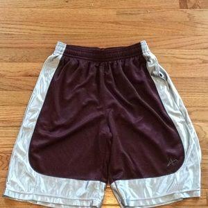 💛Maroon & Silver Basketball Shorts with Pockets💛